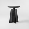 Cupola Side Table / Black Glass - Black Marble