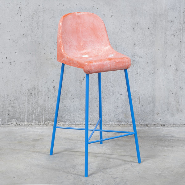 The Fan Stool / Pink Blue