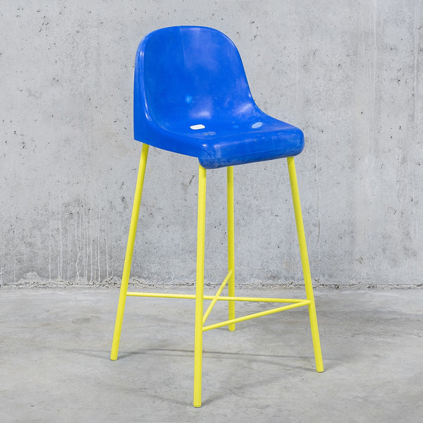 The Fan Stool / Blue Yellow