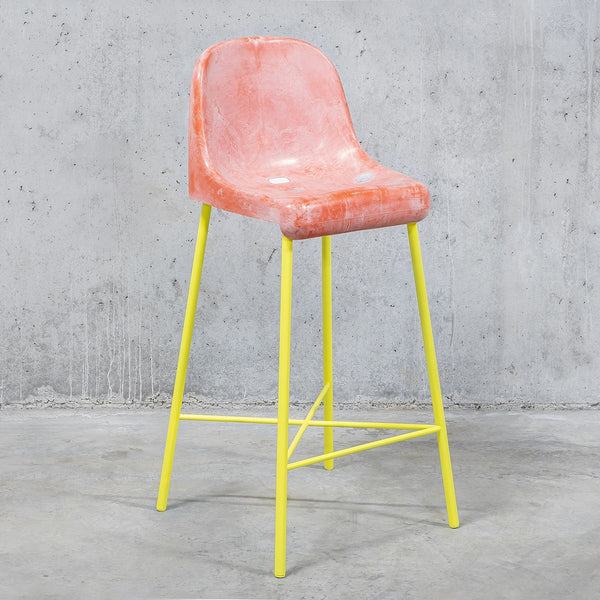 The Fan Stool / Pink Yellow