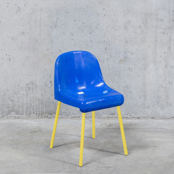 The Fan Chair / Blue Yellow