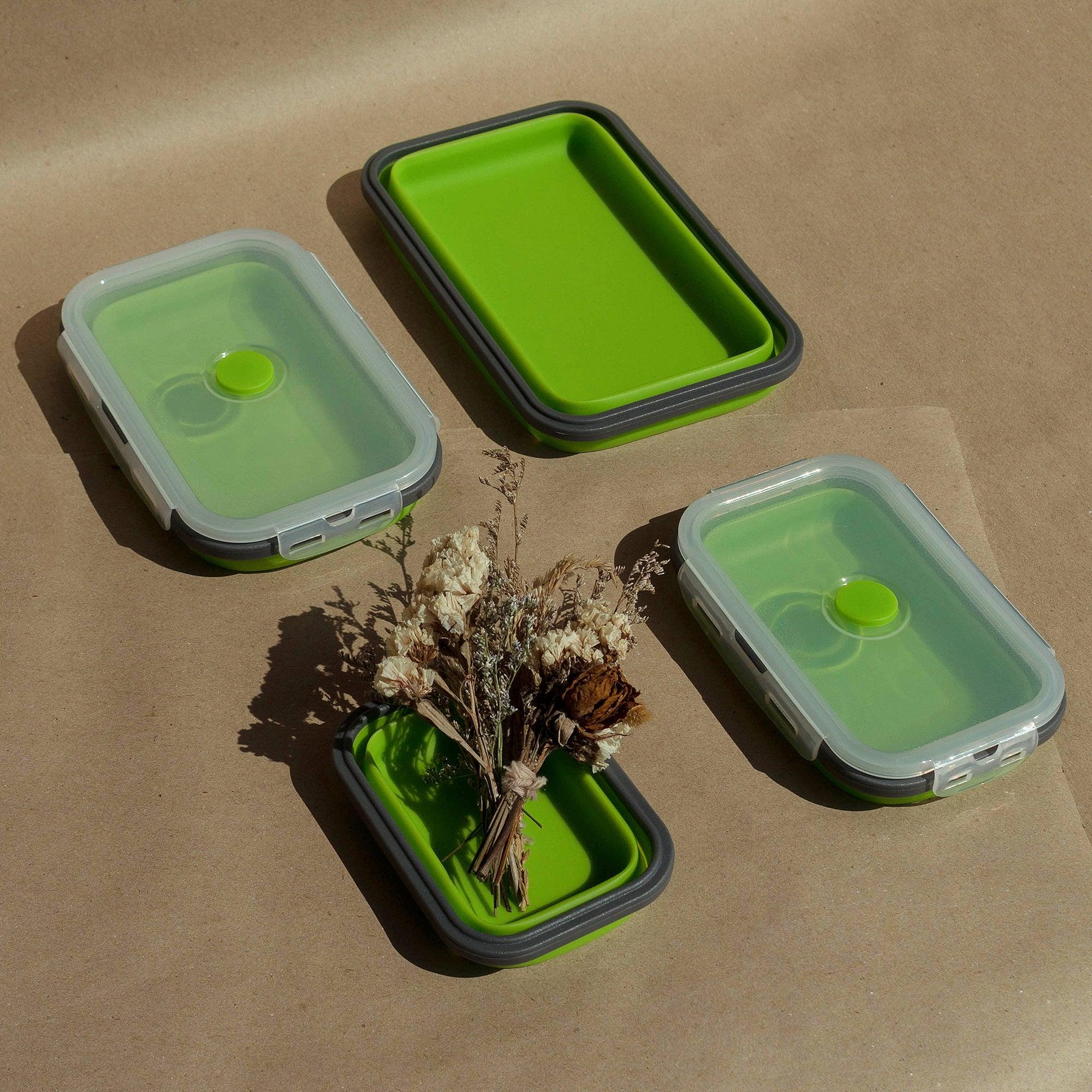 collapsible silicone container