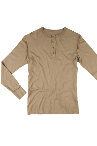 Men's Long Sleeve Henley - Army