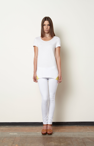 Dinaice Panel Top-White/Citron
