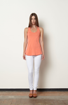 Magdalene Braided Tank-Coral