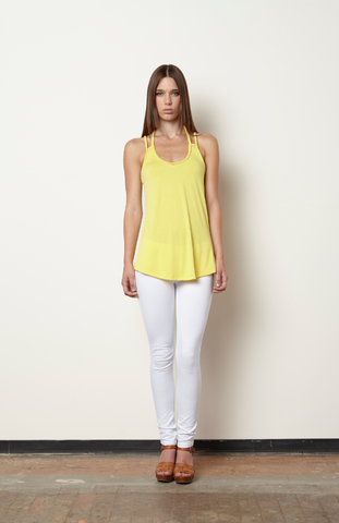 Magdalene Braided Tank-Citron