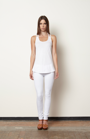 Magdalene Braided Tank - White