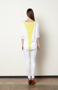 Jacinta Drip Top-White/Citron