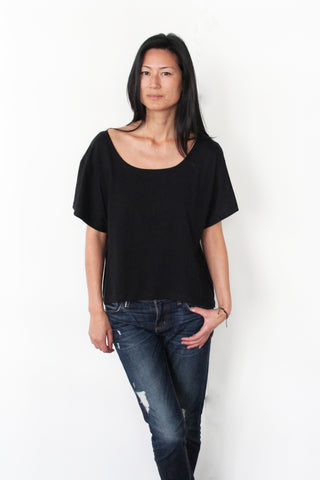 Women's Boxy Tee - Black