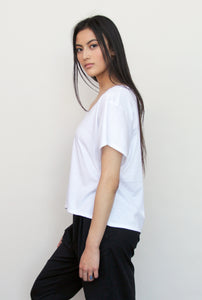 Women's Boxy Tee - White