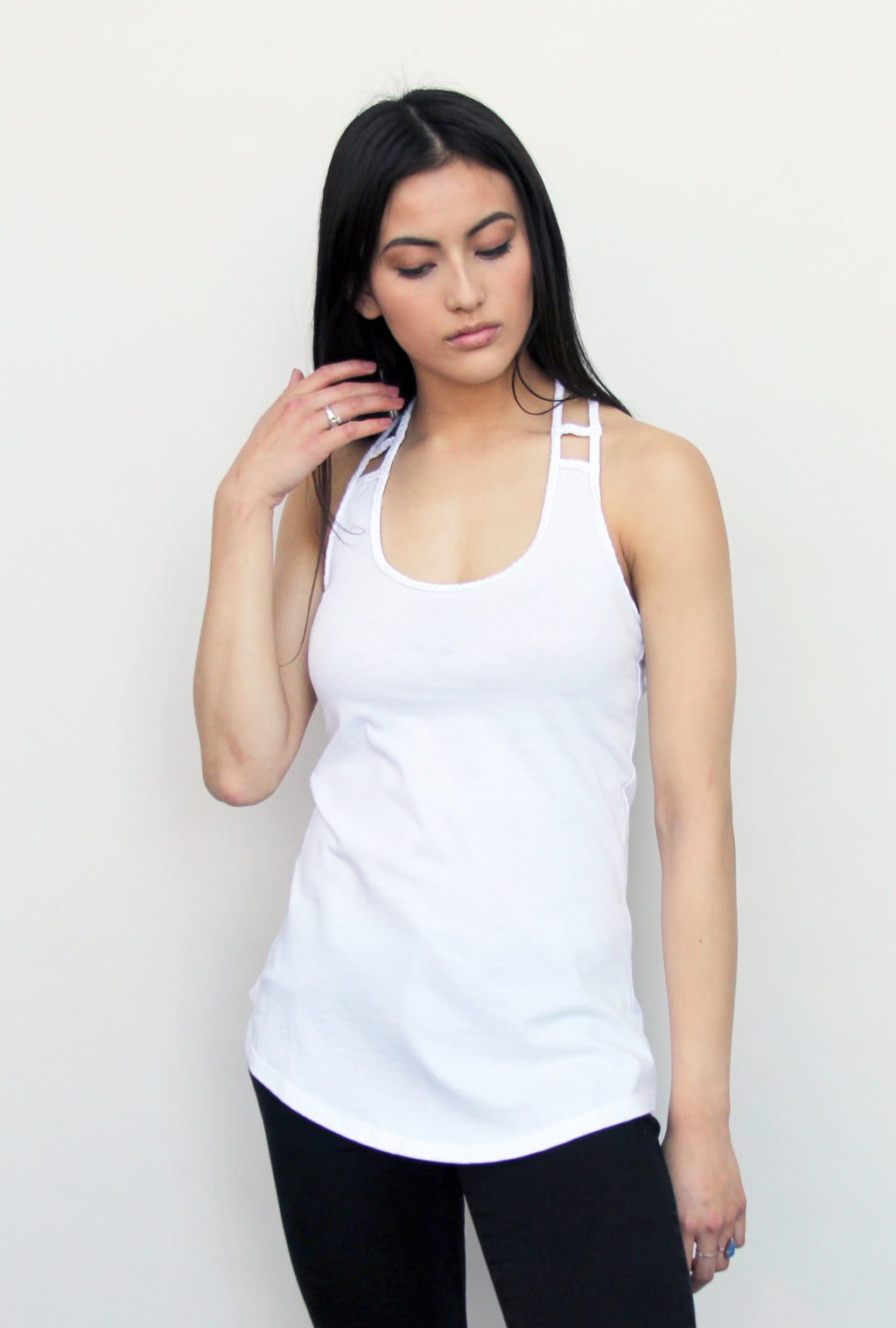 White Braided Tank