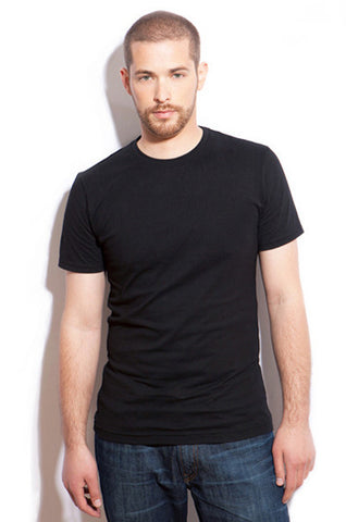 Men's Slim-Fit Crew Neck Tee - Black