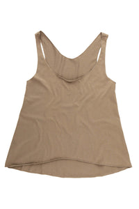 Women's Cropped Tank - Bark
