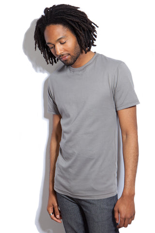 Men's Slim-Fit Crew Neck Tee - Gray