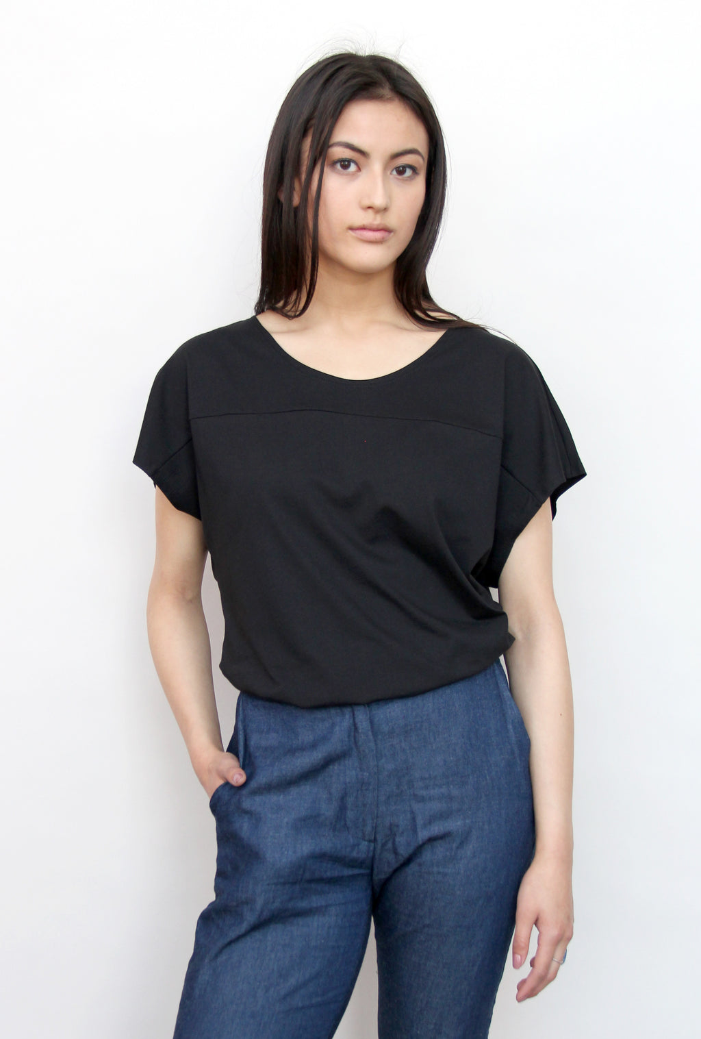 Women's Yoke Tee - Black