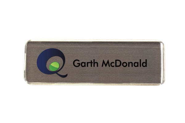 20-Unit Small Silver Name Badge Kit