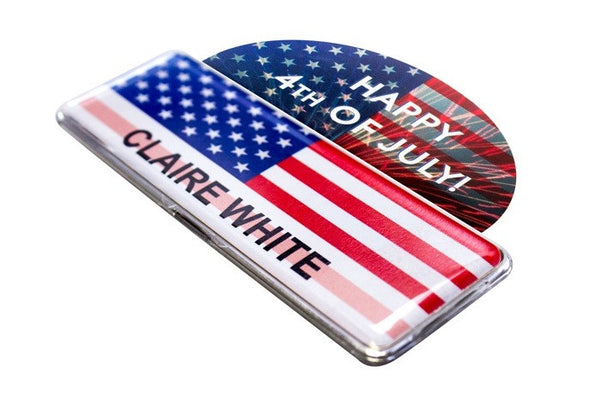 "20-Unit ""USA Patriotic Flag Collection"" Medium 1"" x 3"" Badge Kit"