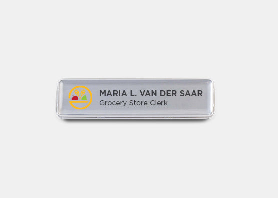 "Rectangle Name Badge Kit 0.6"" x 2.7"" 20 pcs"