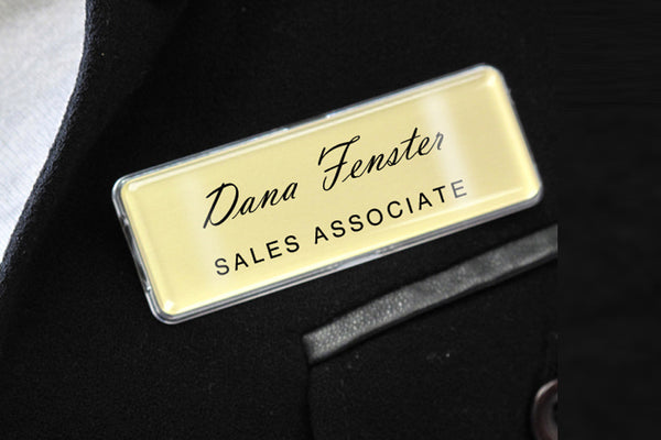Name Badge Kit YouWho™ Silver Inkjet