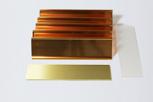 5-Unit Gold Desk Plate Kit