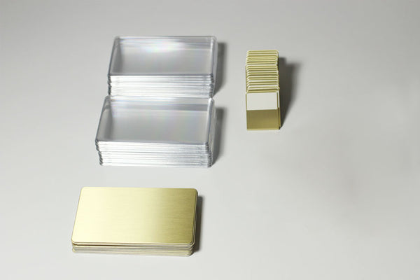 20-Unit Rectangular Gold Signage Kit
