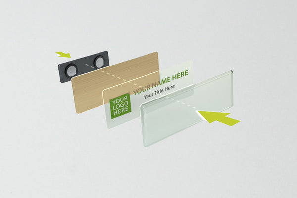 Name Badge Kit YouWho™ Gold Inkjet