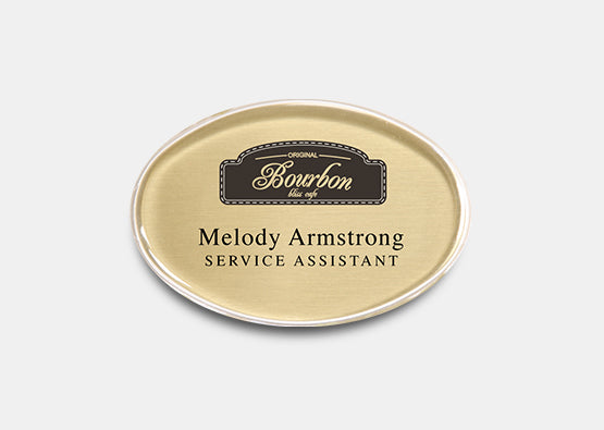 "Oval Name Badge Kit 1.7"" x 2.6"" 20 pcs"