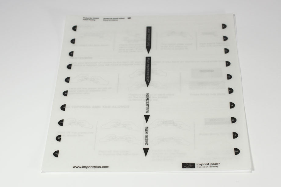 Large Insert Sheets 5 Pack Inkjet