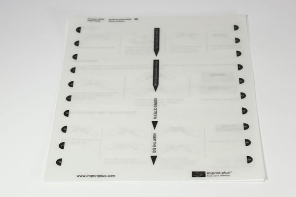 5 - Pack Medium Plus Insert Sheet