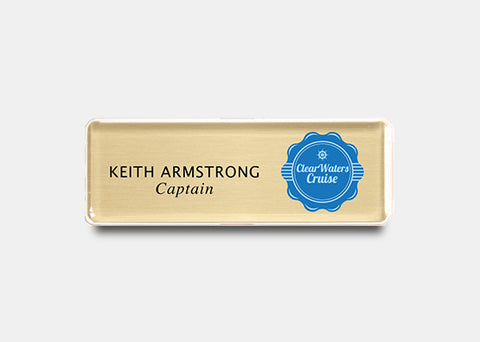 "Rectangle Name Badge Kit 1.0"" x 3.0"" 20 pcs"