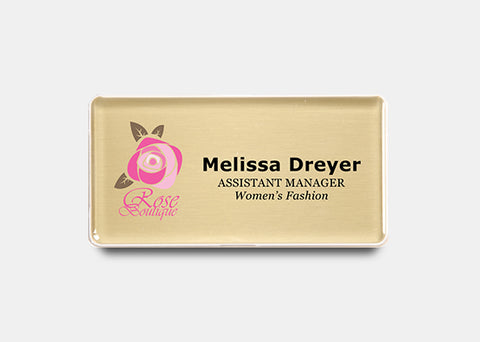 "Rectangle Name Badge Kit 1.5"" x 3.0"" 20 pcs"