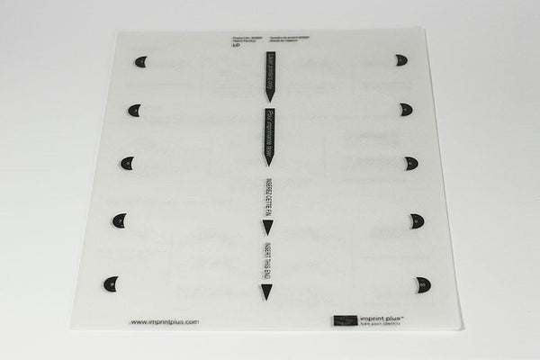 Oval Insert Sheet - 5 Pack