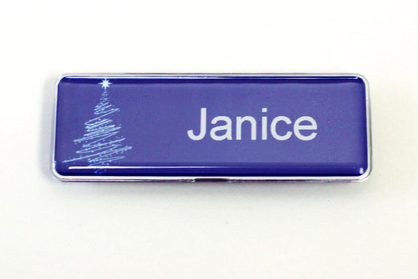 20-unit Blue Christmas P-touch® Badge Kit