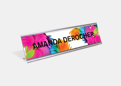 "Desk Sign Kit 2.00"" x 8.00"" - 5 Pack"
