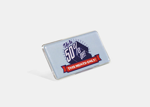 "The Mighty Display Sign 2.1"" x 3.4"" - 20 Pack"