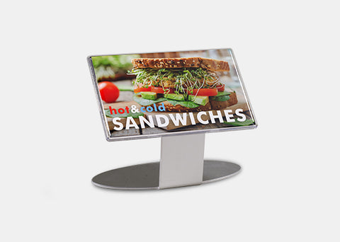 "Rectangle Standing Display 3.0"" x 5.0"""