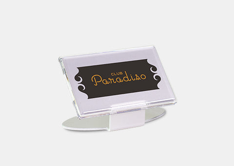 "Rectangle Standing Display 2.1"" x 3.4"" - 6 Pack"