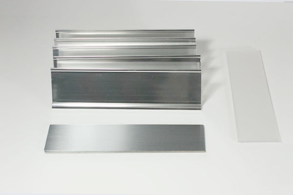 5-Unit Desk Plate Kit Silver