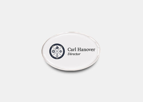 "Oval Name Badge Kit 1.3"" x 1.9"" 20 pcs"