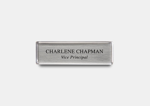 "Rectangle Name Badge Kit 0.7"" x 2.5"" 20 pcs"