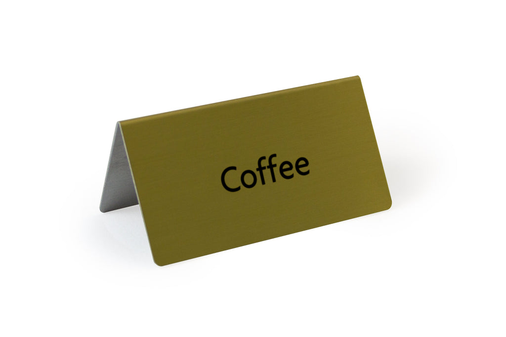 Rectangle Tent Sign Silver Coffee 3.0x3.0