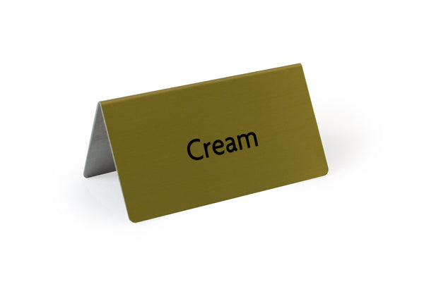 Rectangle Tent Sign Silver Cream 3.0x3.0