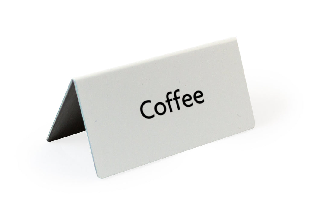 Rectangle Tent Sign Gold Coffee 3.0x3.0