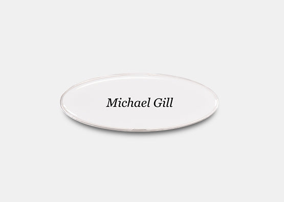 "Oval Name Badge Kit 0.9"" x 2.8"" 20 pcs"