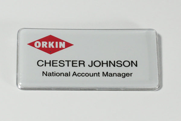 20-Unit Medium Plus White Name Badge Kit