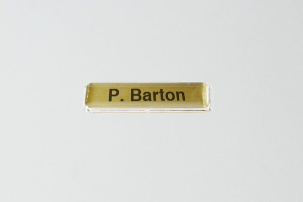 20-Unit Extra Small Gold Name Badge Kit
