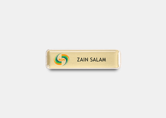"Rectangle  Name Badge Kit 0.5"" x 2.0"" 20 pcs"