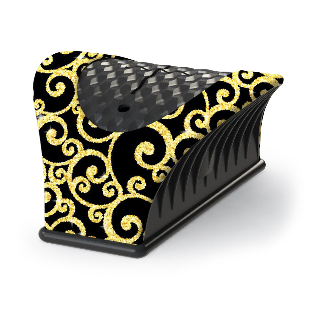 Nail Buddy Nail Bottle Holder Gold Swirl Pattern