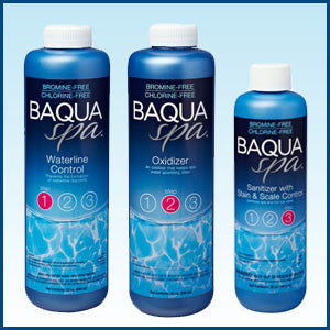 BaquaSpa 3 Pack Waterline Control, Oxidizer, Sanitizer