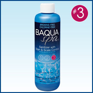 BAQUASpa Sanitizer with Stain & Scale Control -16 oz